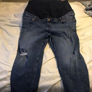 H+M plus maternity jeans